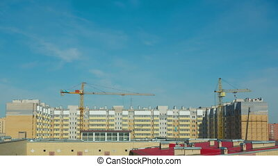 Construction site - View of construction site. Time lapse.