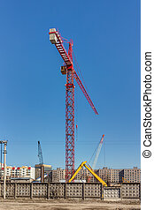 construction site with a high crane