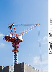 construction site with blue sky