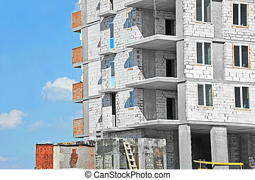 Construction site work - Monolithic building construction...