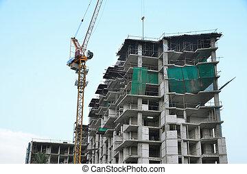 Construction site2 - buildings under construction and cranes...