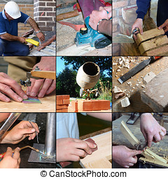 Construction skills and crafts - Selection of images...
