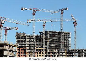 Construction skyscrapers
