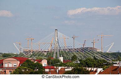 construction, stade, football