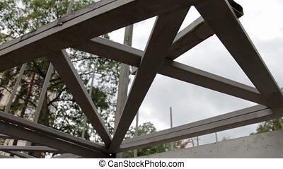 Construction Steel Beam - Construction steel beam on...