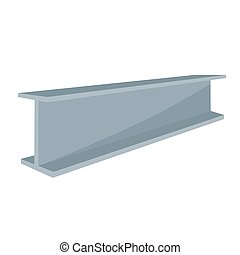 Vector illustration construction steel beam for architectural works