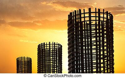 construction, stockage, rebar