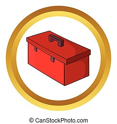 Construction suitcase vector icon