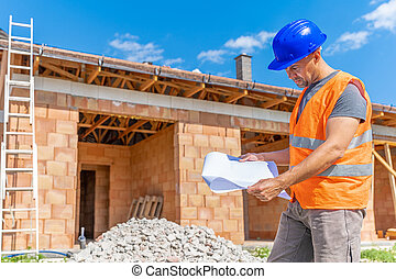 construction supervision controls the project during the construction of a family house