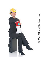 Construction supervisor woman - Attractive successful young...