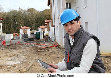 construction, surveillant, site