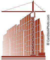 construction, symbole, grue