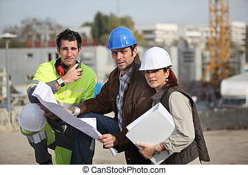 Construction team on site