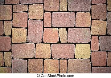 construction, terrasse, paver pierres