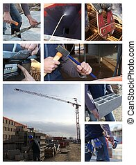 Construction themed collage