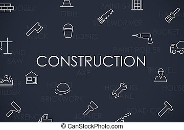Construction Thin Line Icons