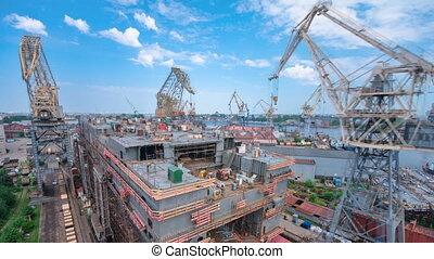 construction, timelapse, bateau, chantier naval