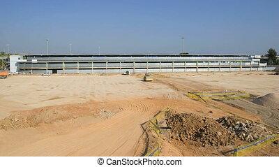Construction timelapse: building a parking garage.
