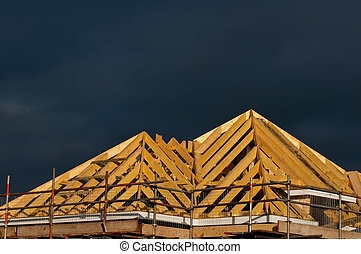 construction, toit, bois construction