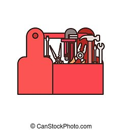 construction tool box isolated icon vector illustration ...