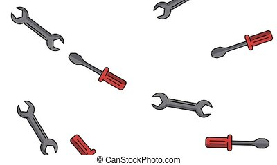 Construction tools background HD animation