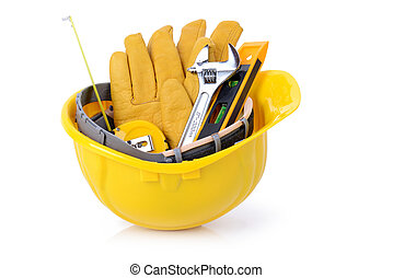 construction tools - Construction DIY tools ready for work...