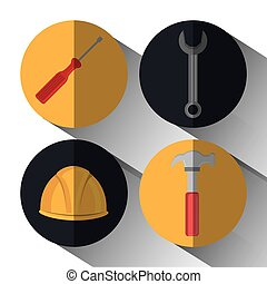 construction tools devices icon