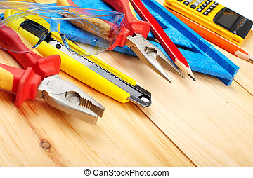 Construction tools. Home and house renovation concept...