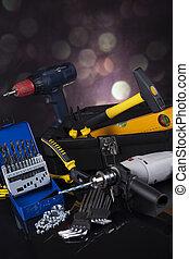 Construction tools, house renovation concept