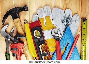 Construction tools.