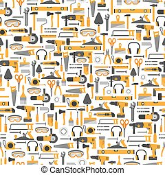 Construction tools seamless pattern - Construction tools...