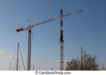 Construction tower cranes