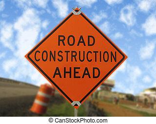 Construction traffic sign