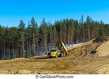 Construction transport at work