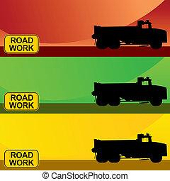 Construction Truck Banner Set