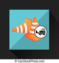 construction truck concept road cone design