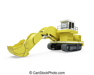 Construction truck isolated view