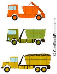 Construction truck set.