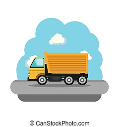construction truck vehicle icon