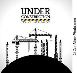 construction, vecteur, conception, illustration.