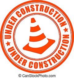 construction, vecteur, sous, signe