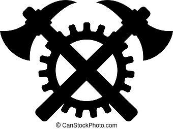 construction, vecteur, vieux, signe