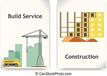 Construction vector banner