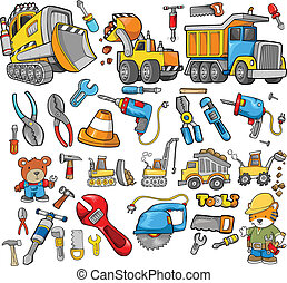 Construction Vector Design Elements Set