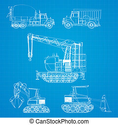 Construction vehicles blueprint