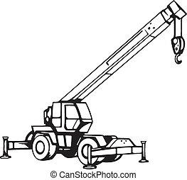 truck crane illustrations and clip art 7 541 truck crane royalty rh canstockphoto com crane clip art small crane clip art free black & white