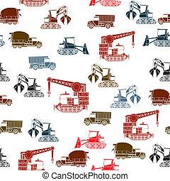 Construction vehicles pattern