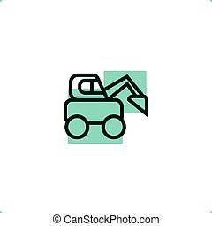 Construction Vehicles: Skid Steer Loader icon