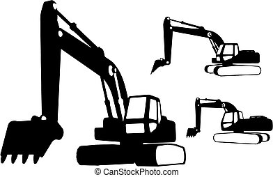 Construction vehicles (vector) - Construction vehicles made...