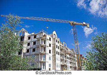 construction, vert, site